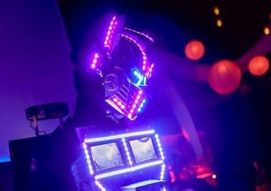 robot laser bleu